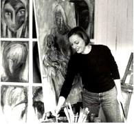 Helga Mols im Atelier